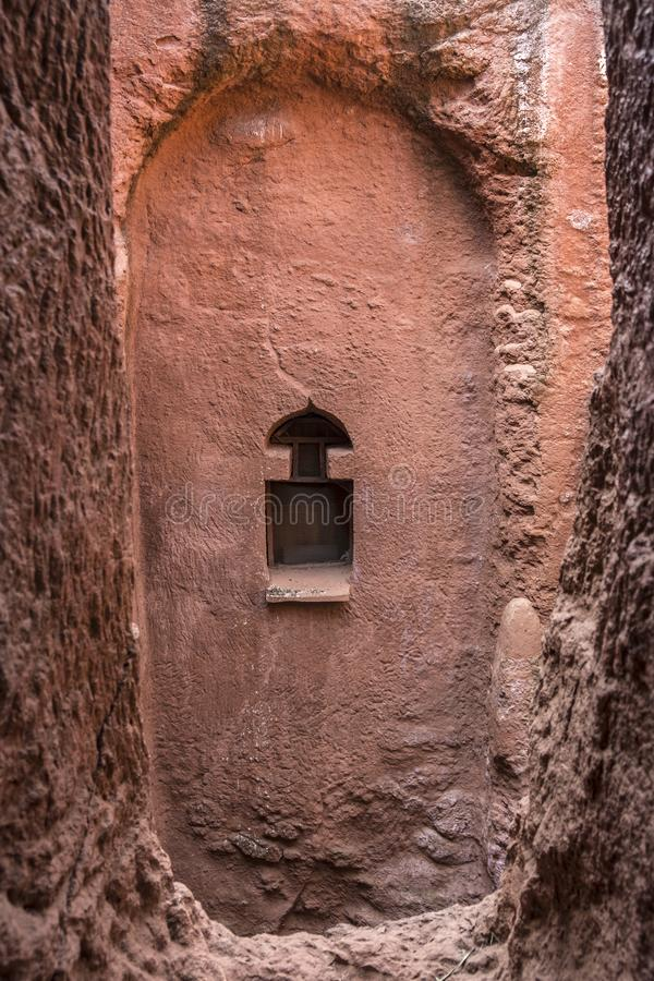 Bet Gabriel-Rufael in Lalibela, Ethiopia. Bet Gabriel-Rufael, one of the churches carved into the rock of Lalibela. Ethiopia stock images