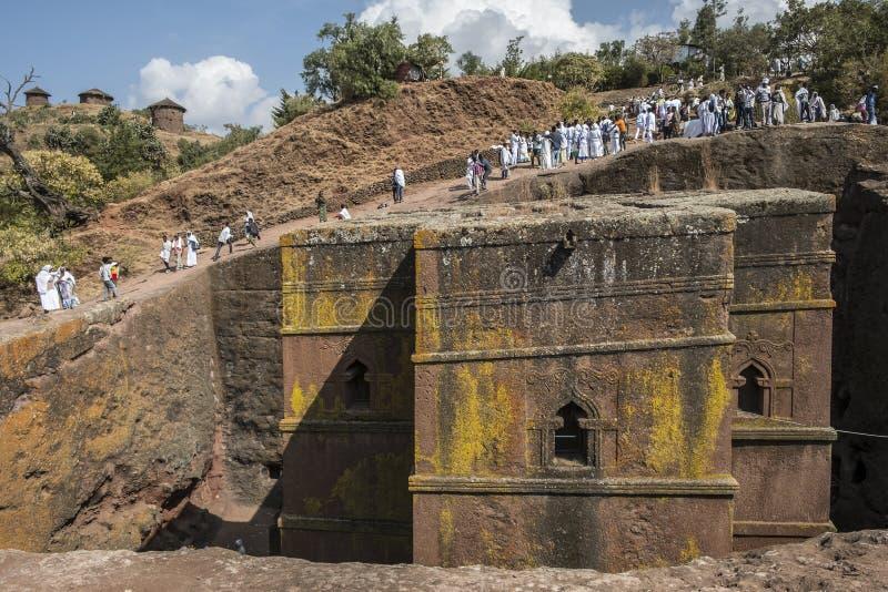 Bet Giyorgis in Lalibela, Ethiopië stock fotografie