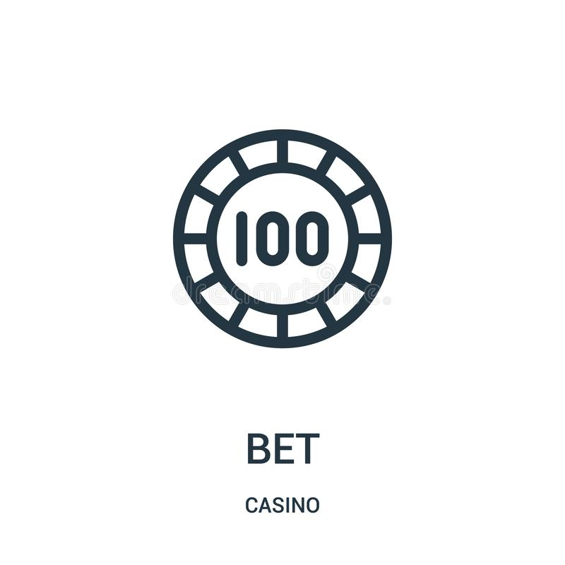 bet icon vector from casino collection. Thin line bet outline icon vector illustration vector illustration