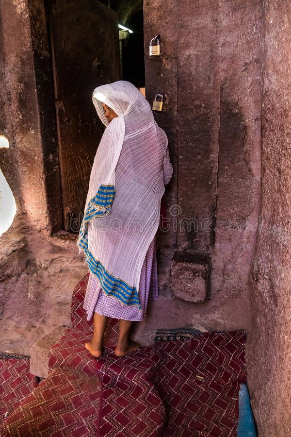 Bet Maryam Church, St Mary Church in Lalibela, Ethiopië stock fotografie