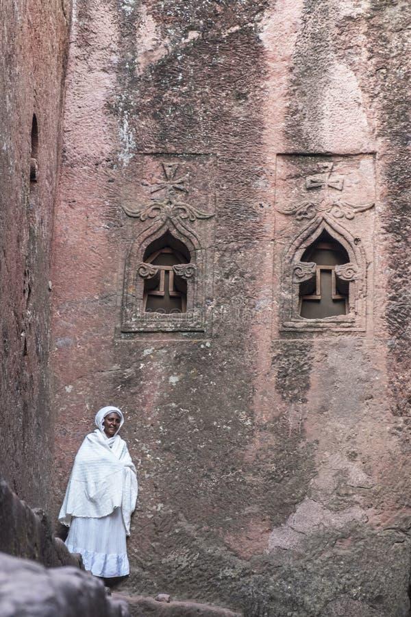 Bet Mikael dans Lalibela, Ethiopie photo stock