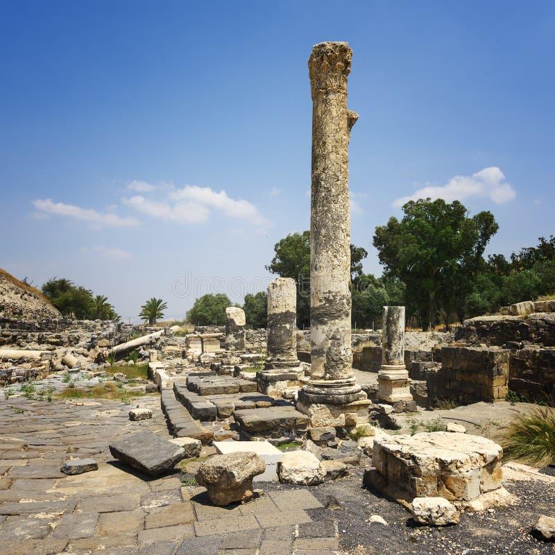 Bet Shean Ruins en Israel imágenes de archivo libres de regalías