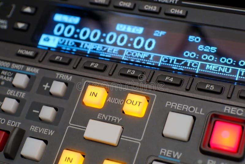 beta广播数字式记录员录象机 库存图片