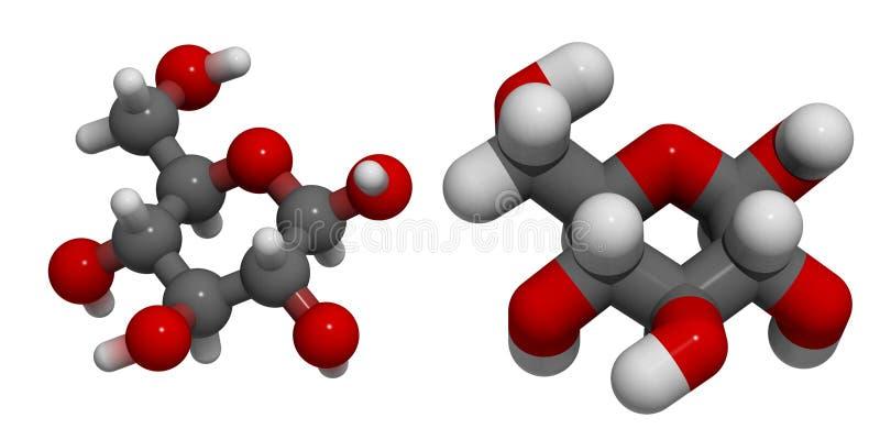 beta D-glukos royaltyfri illustrationer
