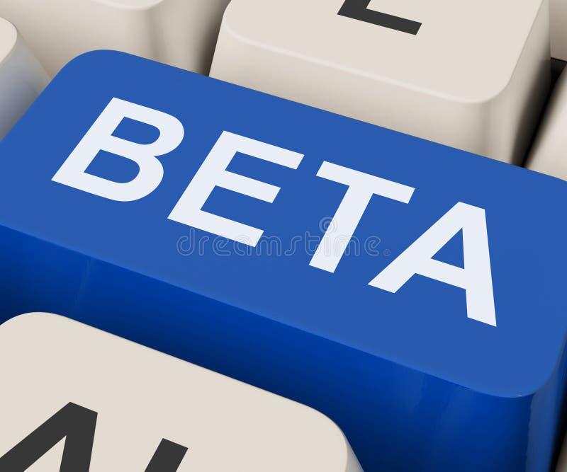 Beta Key Shows Development Or Demo Version royalty-vrije stock foto