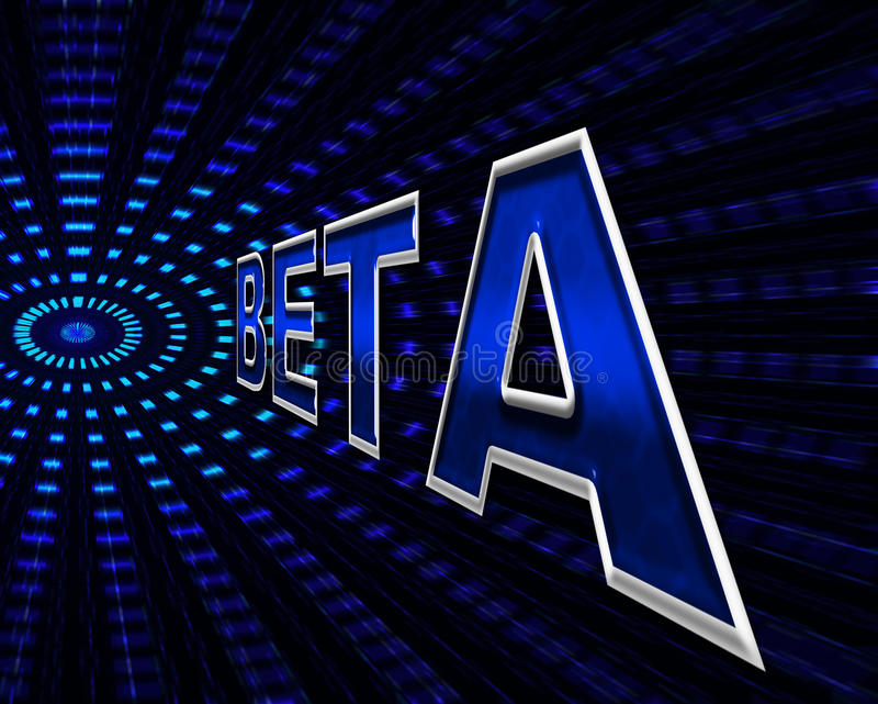 Beta Software Indicates Programming Softwares en Download royalty-vrije illustratie