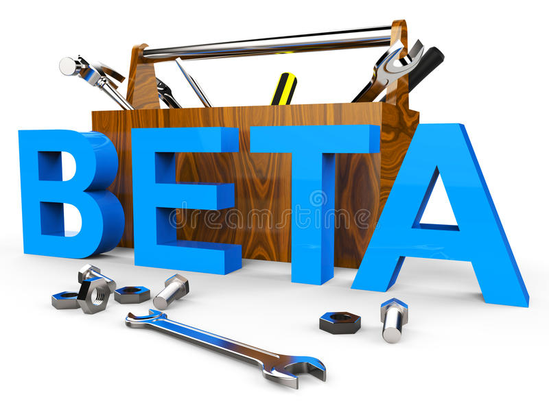 Beta Software Means Test Freeware en ontwikkelt zich royalty-vrije illustratie