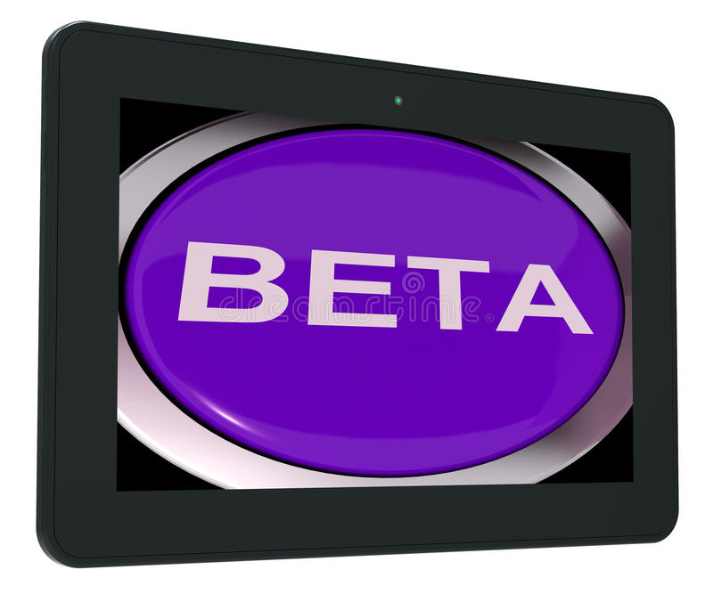 Beta Switch Shows Development Or Demo Version vektor illustrationer