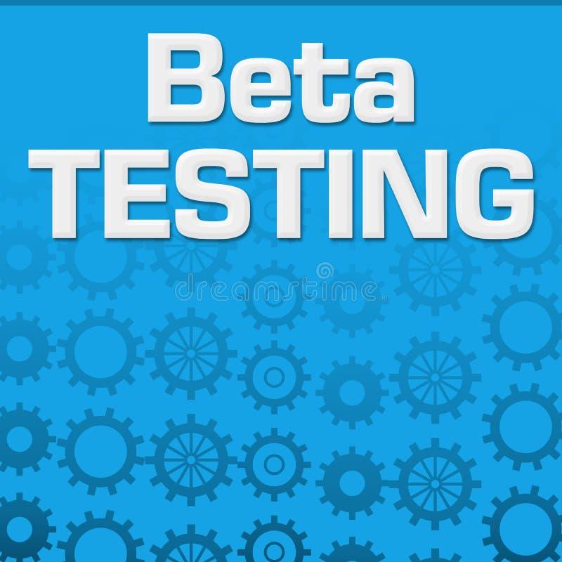 Beta Testing Blue Gears Background royalty free illustration