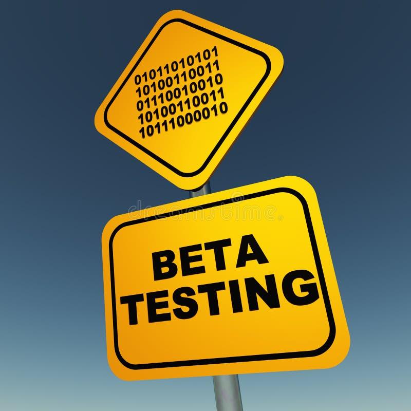 Beta testowanie royalty ilustracja