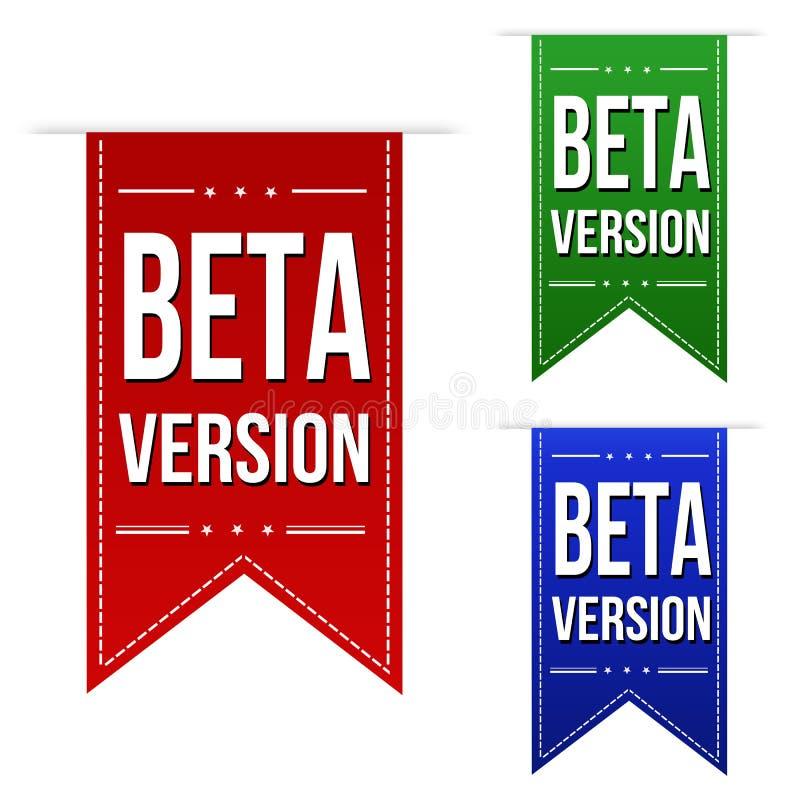 Beta version banner design set stock illustration