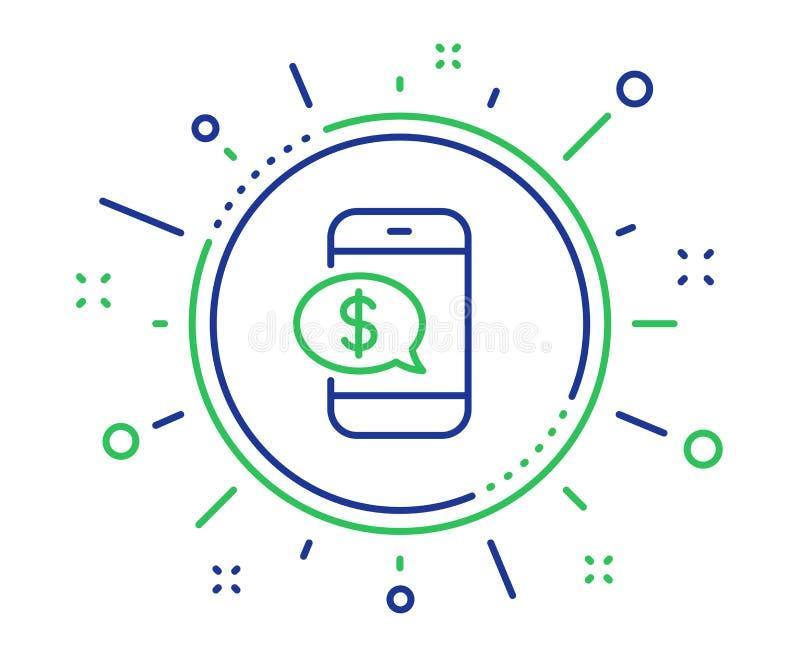 Betaal door het pictogram van de telefoonlijn Mobiel betalingsteken Vector vector illustratie
