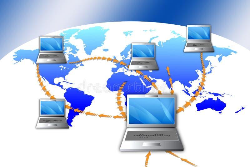 Betaal online stock illustratie