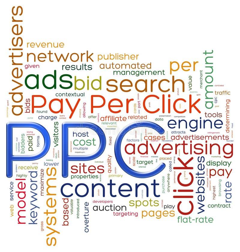 Betaal per de markeringen van het klikwoord stock illustratie