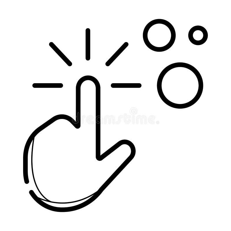 Betaal per klik, het pictogram van de opstellingslijn stock illustratie