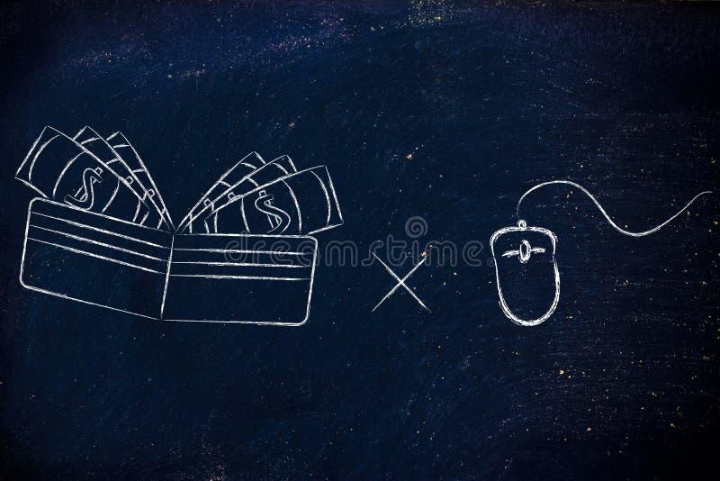 Betaal per klik: inkomens en populariteit op het Web royalty-vrije stock foto