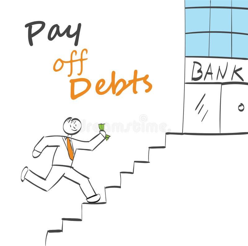 Betaal schulden royalty-vrije illustratie