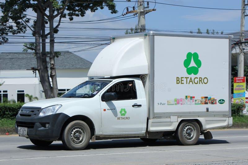 Betagro Company被冷藏的容器卡车  免版税图库摄影
