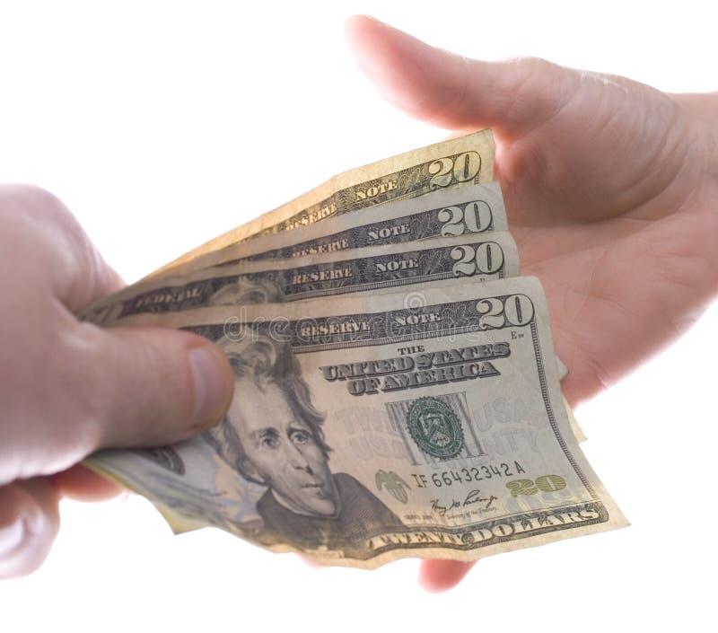 betala för pengar arkivbild