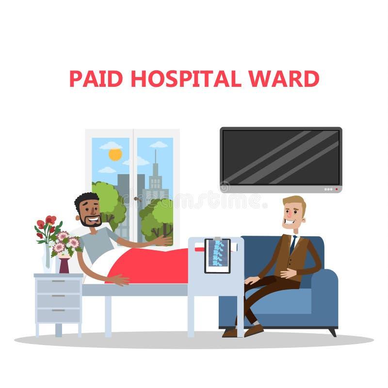 Betald avvärja i sjukhus stock illustrationer