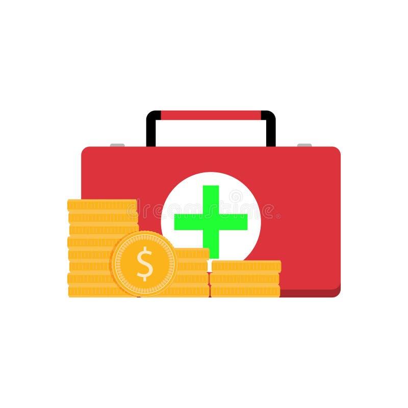 Betald medicinservice stock illustrationer