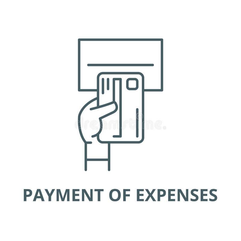 Betaling van pictogram van de uitgaven het vectorlijn, lineair concept, overzichtsteken, symbool royalty-vrije illustratie