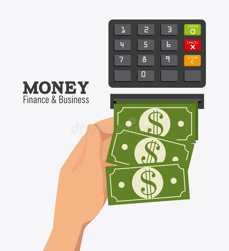 Betalingsontwerp, vectorillustratie stock illustratie