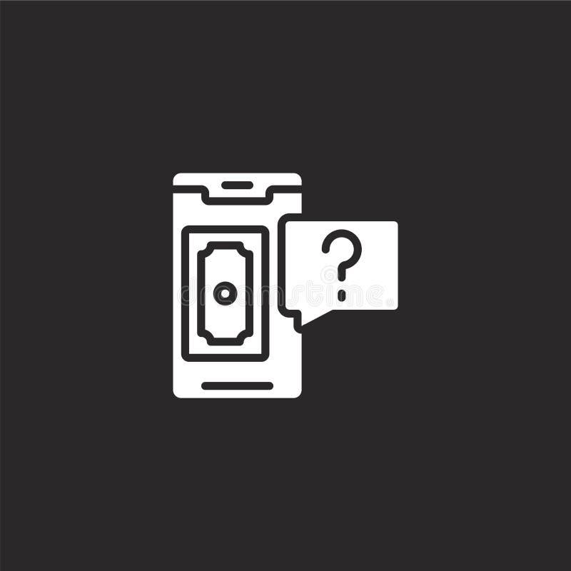 Betalingspictogram Gevuld betalingspictogram voor websiteontwerp en mobiel, app ontwikkeling betalingspictogram van gevulde block royalty-vrije illustratie