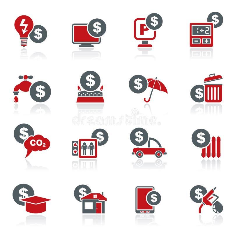 Betalning av räkningsymboler vektor illustrationer