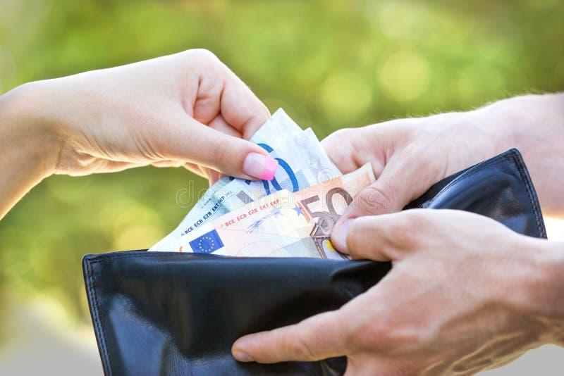 Betalning för service royaltyfri bild