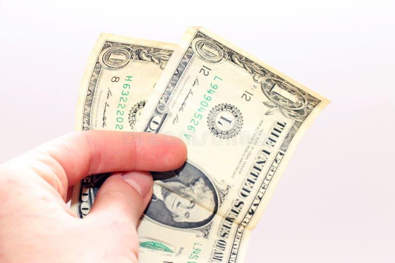 Betalning i dollar arkivbild