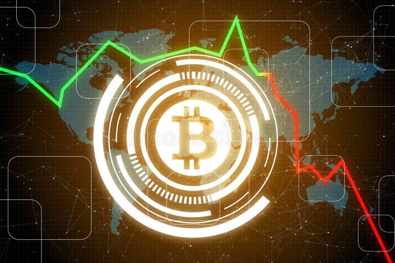 Betalning- och bitcoinbegrepp royaltyfri illustrationer