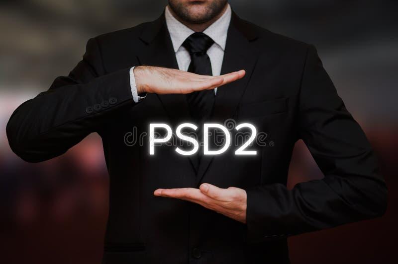 Betalning servar direktivet 2 PSD2 royaltyfri foto