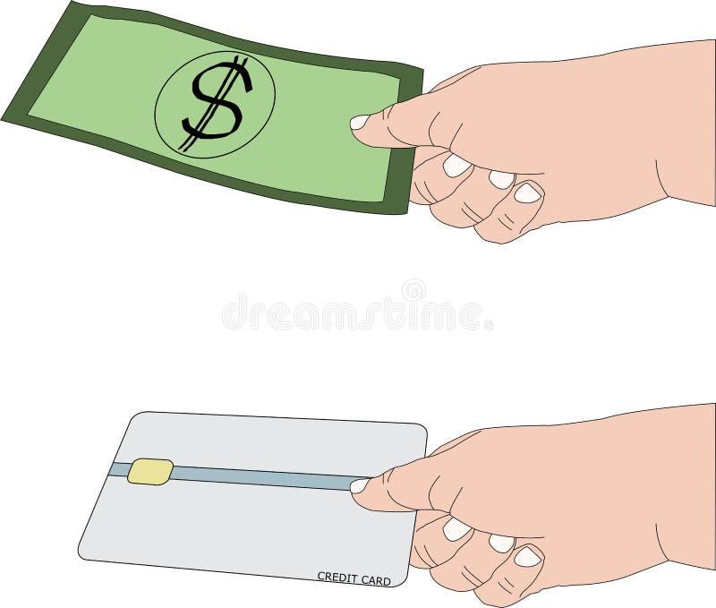 Betalning vid kassa eller kreditkorten vid handen royaltyfria bilder