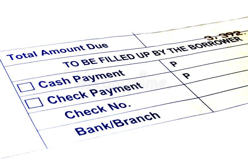 Betalningformer royaltyfri bild