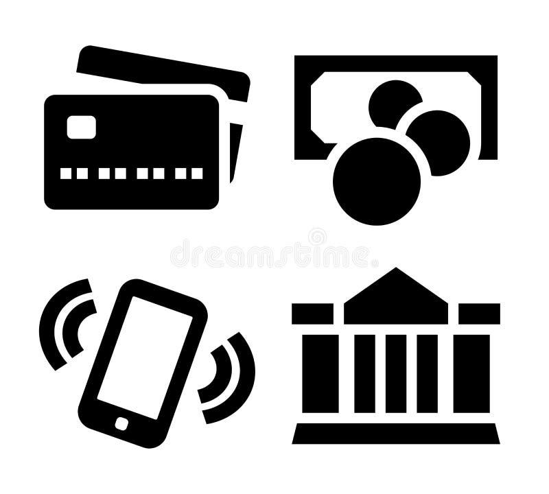 Betalningsymbolsuppsättning stock illustrationer