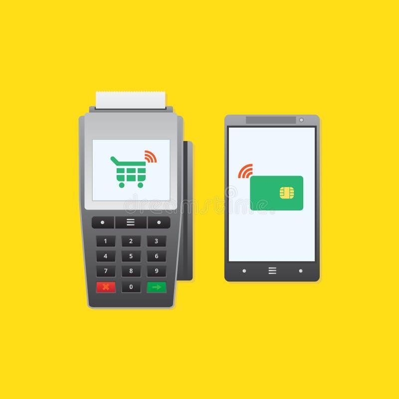 Betalningtelefon royaltyfri illustrationer