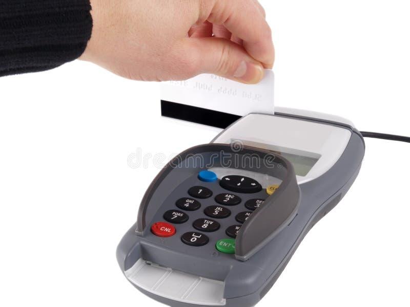 betalningterminal arkivbild