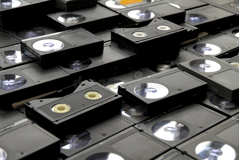 Betamax-Videorekorder-Kasetten stockbilder