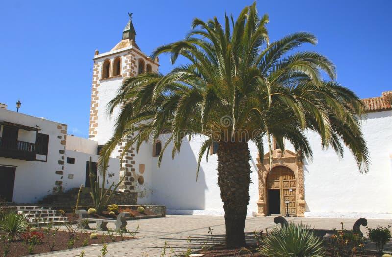 betancuria教会费埃特文图拉岛 免版税库存照片