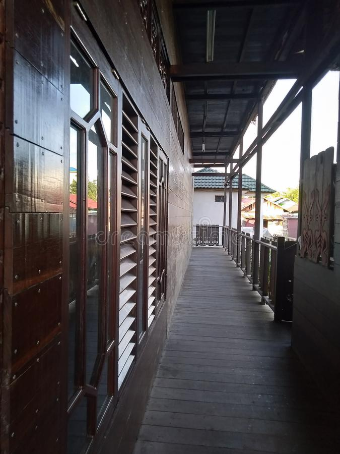 Betang house in Palangka Raya city stock photos