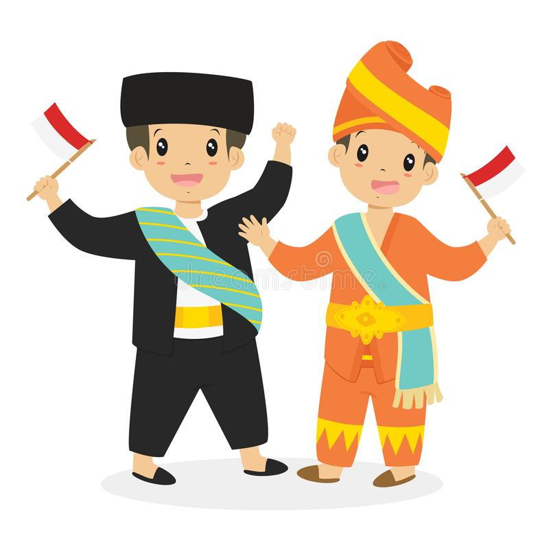 Download Betawi And Padang Kids Holding Indonesian