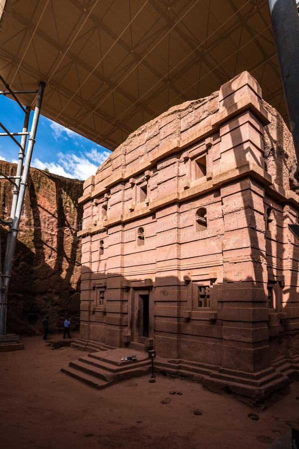 Bete Amanuel, monolitic church in Lalibela, Ethiopia. Africa stock photography