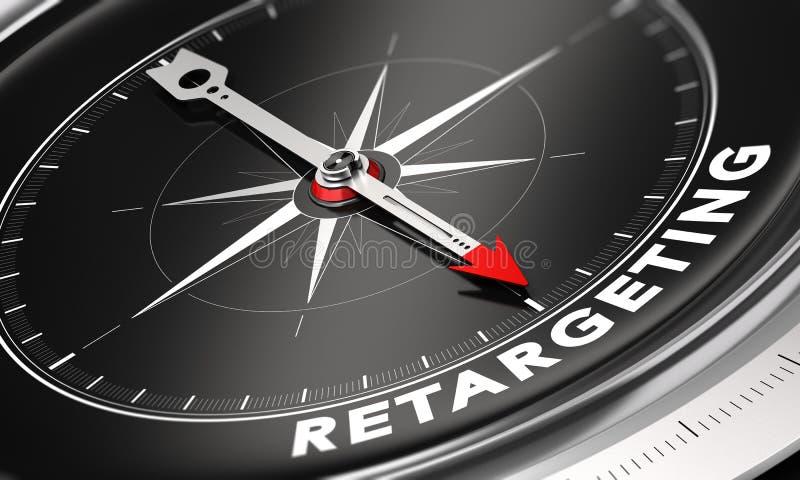 Beteende- Retargeting eller Remarketing begrepp stock illustrationer