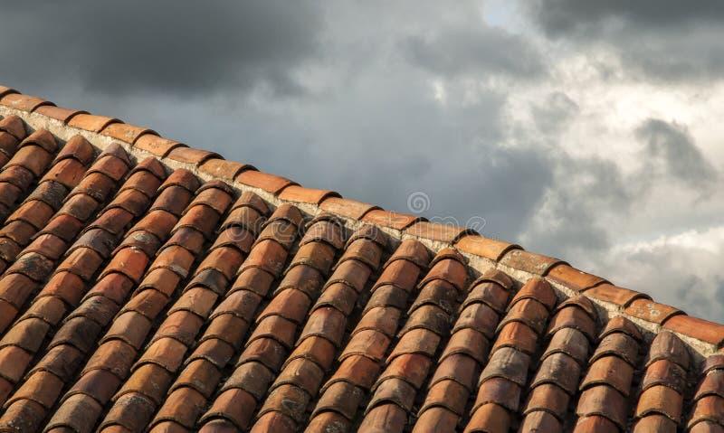 Betegeld dak stock afbeeldingen