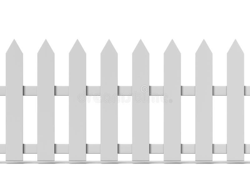 Betegelde Houten omheining vector illustratie