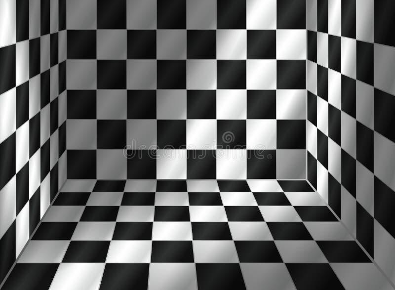 Betegelde ruimte stock illustratie