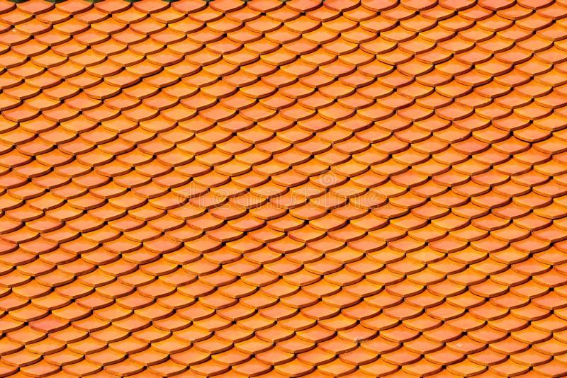 Betegelt texturen op het dak hoogste, oude kasteel, Thaise tempel voor achtergrond stock foto