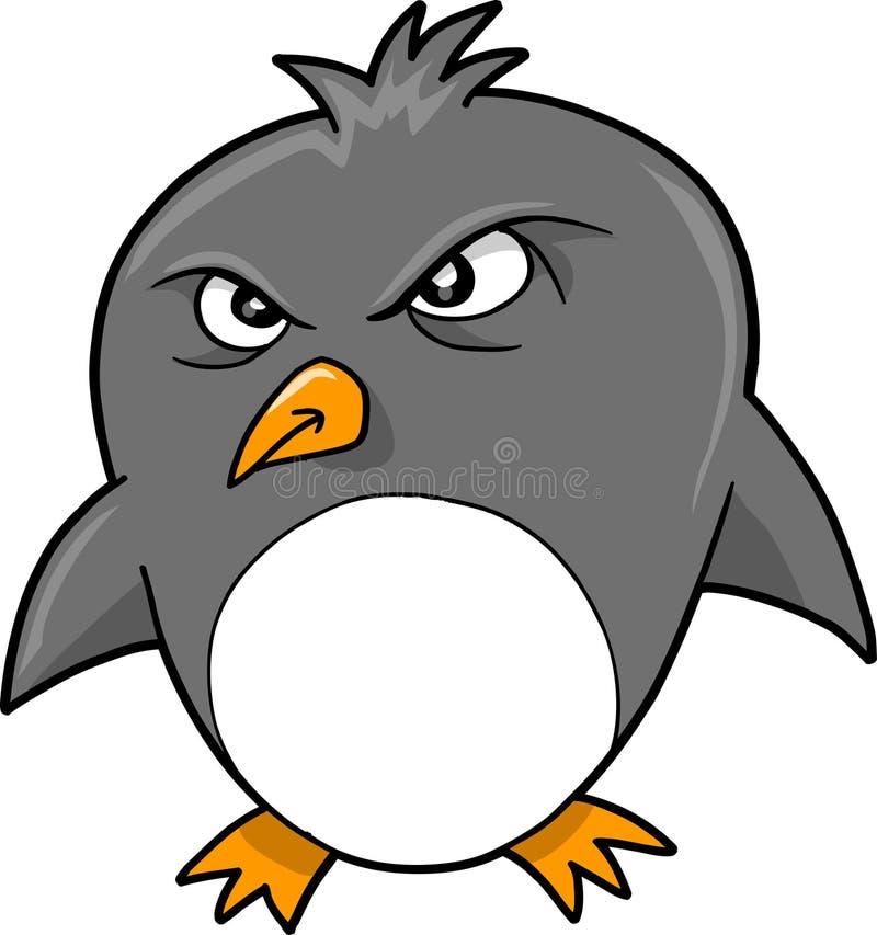 Beteken de Kwade Vector van de Pinguïn royalty-vrije illustratie