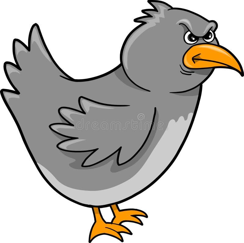 Beteken de Vector van de Vogel van de Kraai royalty-vrije illustratie